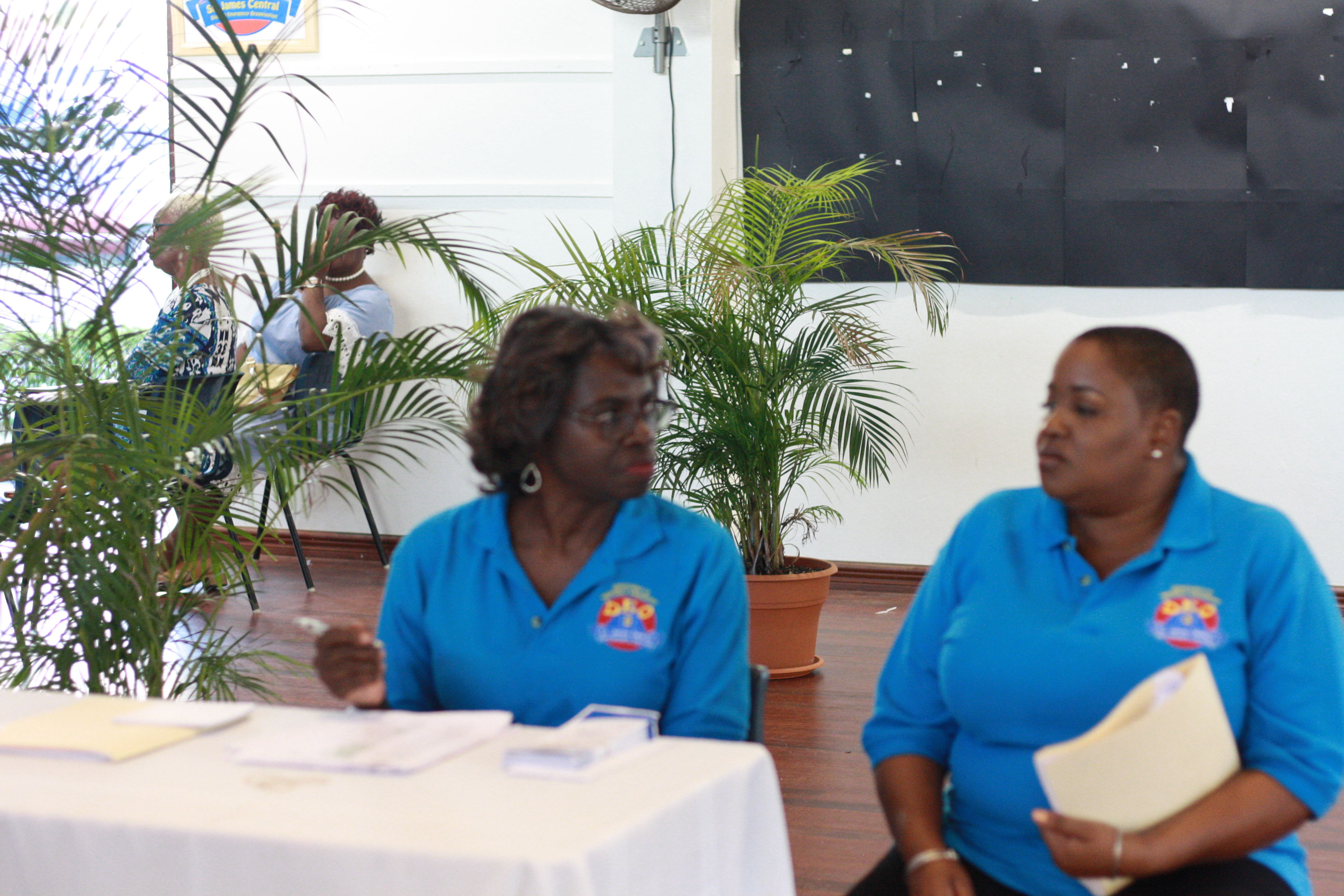 Secretary Brooks and Planning Committee member Claire Inniss