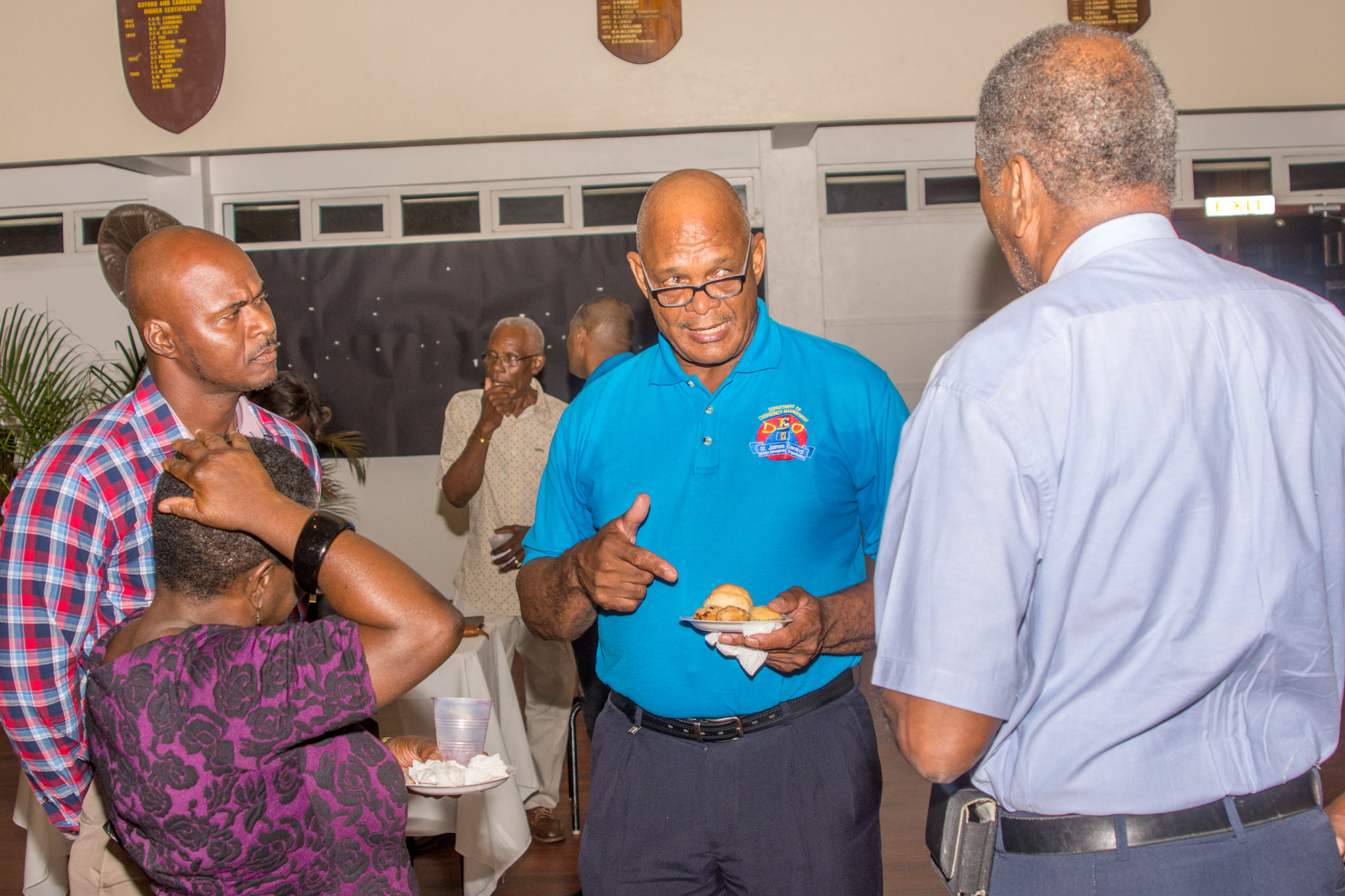 Chairman Brooks mingles with invited guests
