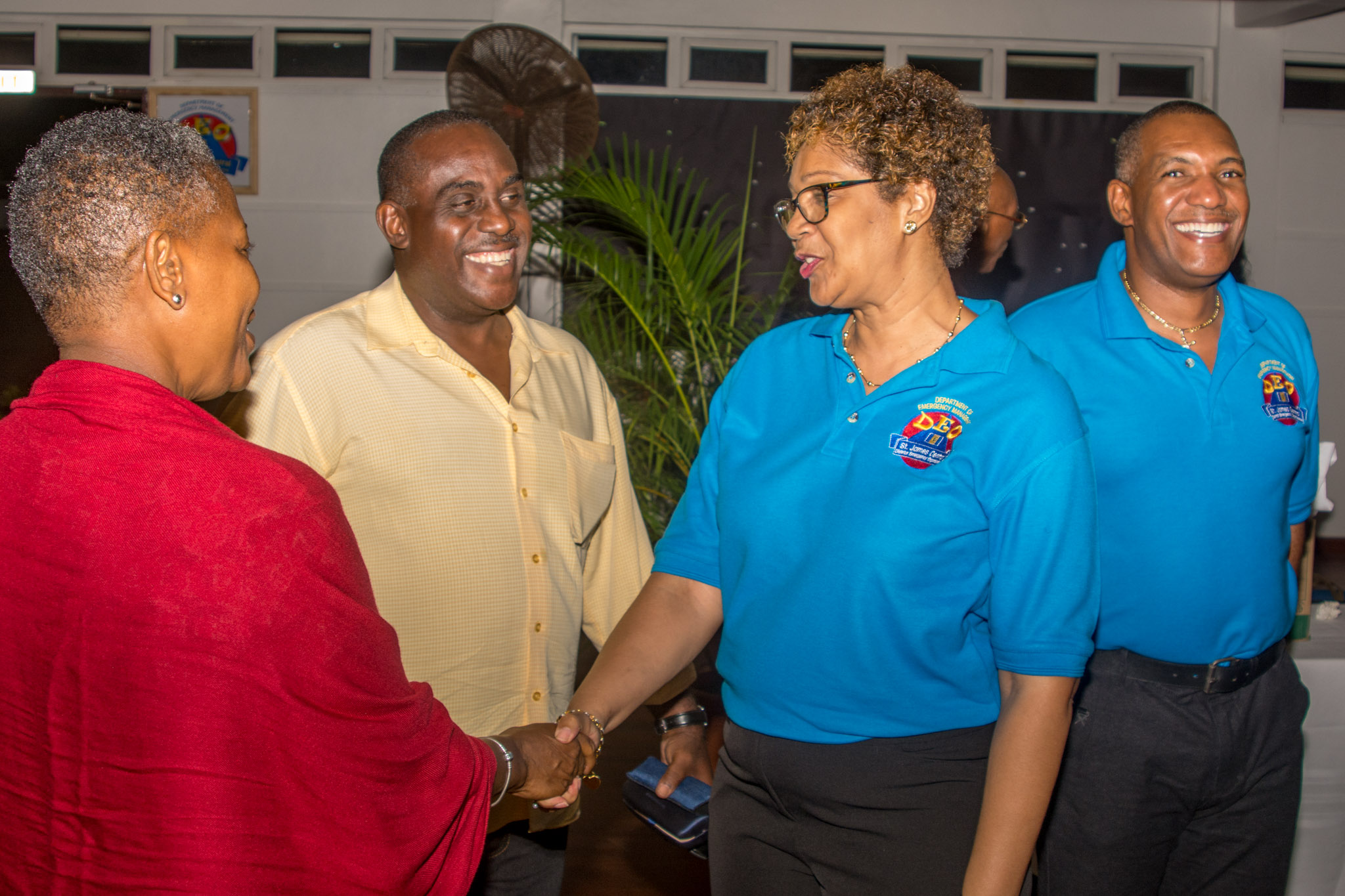 Vice Chair Cheryl Griffith with invited guests
