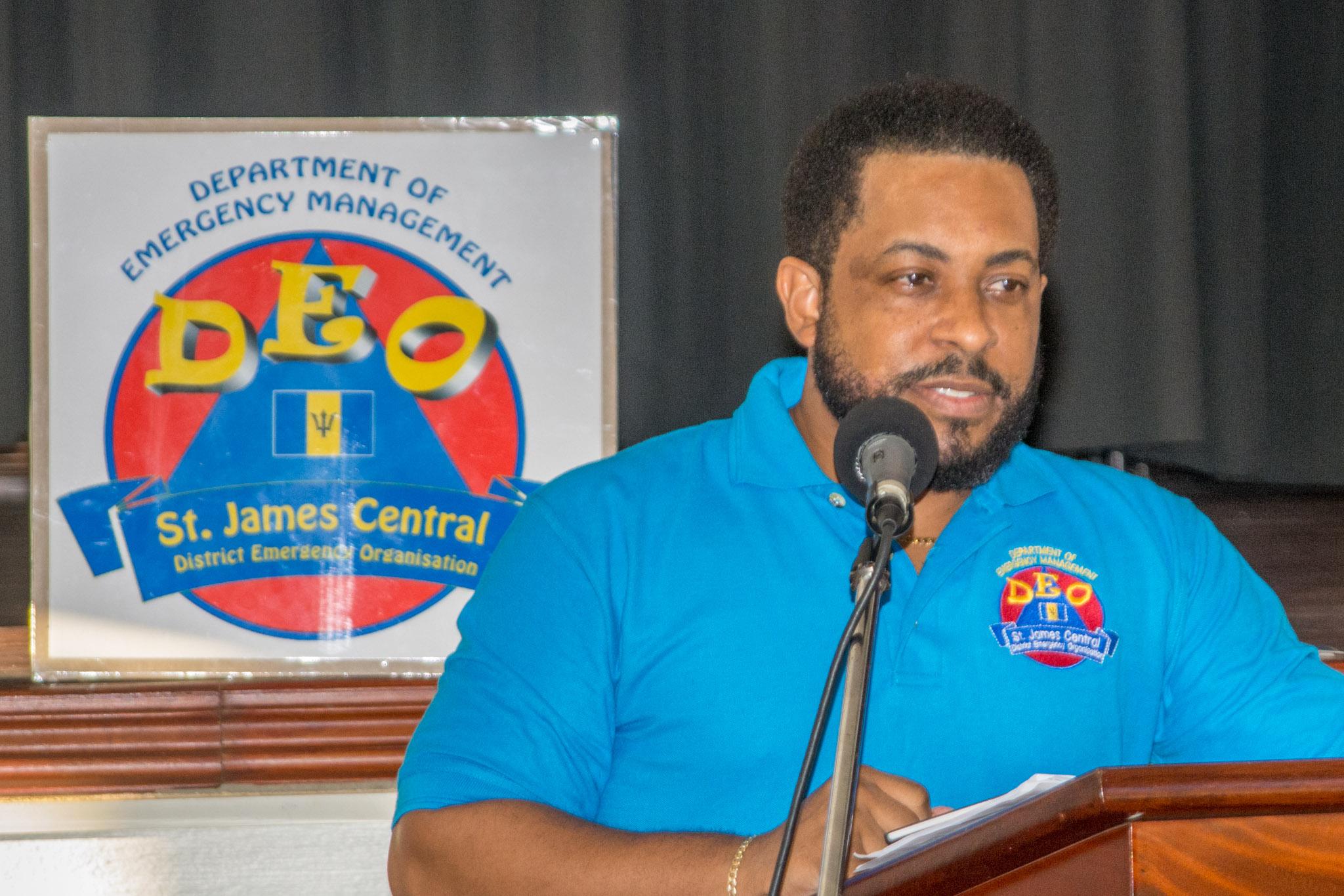 Andre Burgess - delivering Treasurer's report